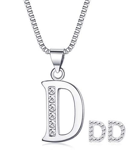 (JOERICA Women Girls Jewelry Set Letter Necklace and Earrings)