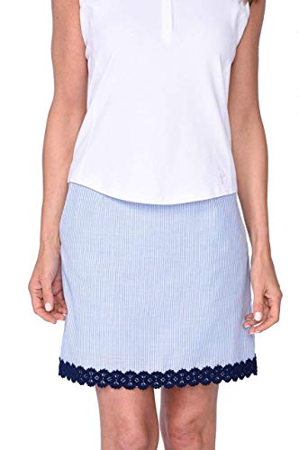 (GOLFTINI Fashion First Navy Stretch Cotton Skort (Comes in 2 Lengths))