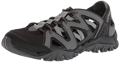 (Merrell Men's Tetrex Crest Wrap Sport Sandal Black 9.5 Medium US)