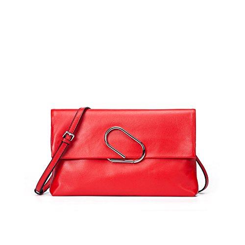 Yvonnelee Mode Femmes Sac En Cuir Sac À Main Épaule Épaule Sac Traitement En Cuir Élégant Shopper Sacs Rouge