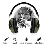 Noise Cancelling Headphones Safety Earmuffs - NRR 34dB Professional Shooting Hunting Hearing Protection Fits for Adults to Kids with Adjustable Padded Head Band