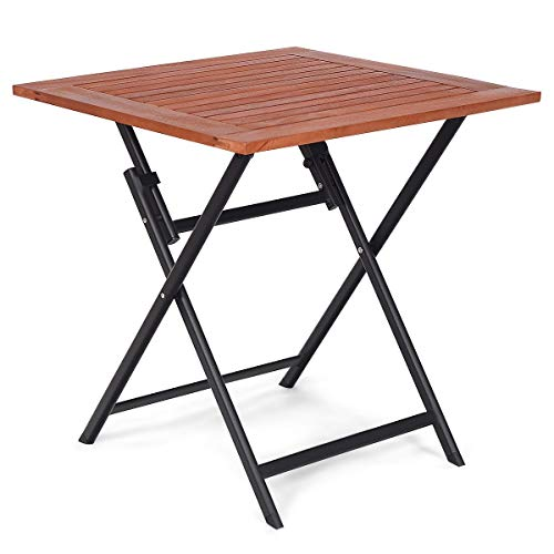 USA_BEST_SELLER Patio Folding Table Square Dining Camping Picnic Table Indoor-Outdoor Patio Furniture