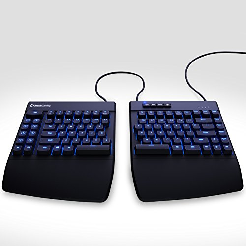 Freestyle Edge Split Gaming Keyboard - Cherry MX Brown Mechanical Switches, 1MS Response Time, Blue Backlighting, 9 Programmable Layouts and Macros
