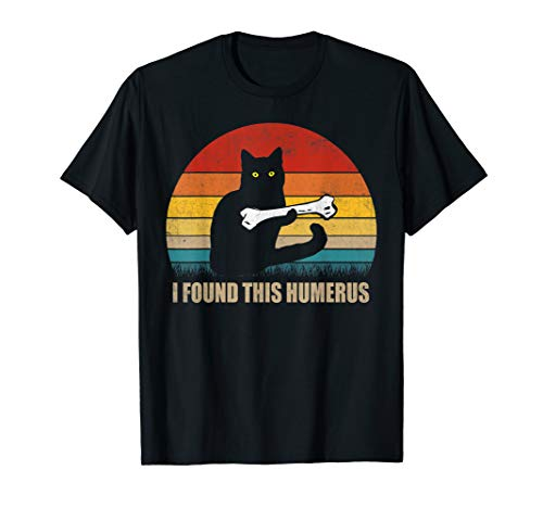 (Vintage I Found This Humerus cat lover cat mom t shirt gift )