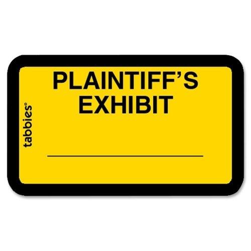 """Tabbies Legal Plaintiff's Exhibit Label - 1.62"""" Width x 1"""" Length - 252 / Pack"""