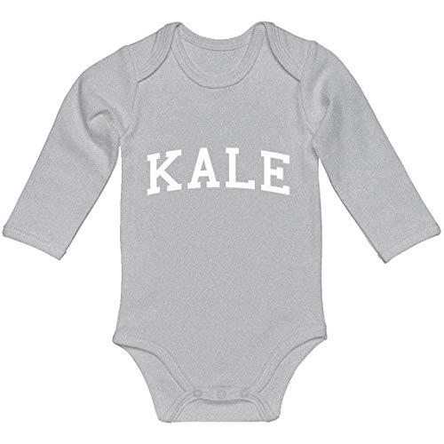 Indica Plateau Baby Romper Kale Heather Grey for Newborn Long-Sleeve Infant Bodysuit -