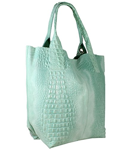 Türkis Bag Made FreyFashion Women's Kroko FreyFashion Italy Made in Tote HwU0wq8