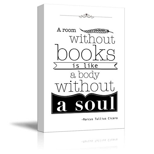 Black and White Quote A Room Without Books is Like a Body Without a Soul by Marcus Tullius Cicero