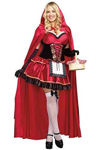 [Dreamgirl Women's Plus-Size Little Red Riding Hood Costume, 3X/4X,] (Halloween Costume Little Red Riding Hood)