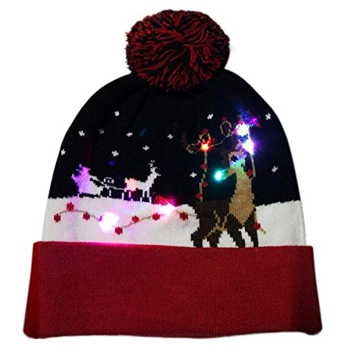 2018 Wool Knitted Christmas Hat Kids Adults Warm Hat New Year Christmas Decoration Party Tree Snowflake Hat -