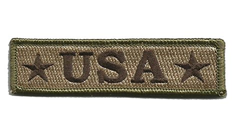 U.S.A. Tactical Morale Patch - Multitan (1 Velcro Patch)