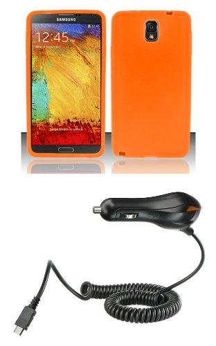 Samsung Galaxy Note 3 - Kit de accesorios - naranja silicona ...