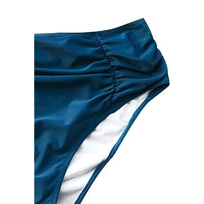 CUPSHE Women's Riddle Story Print Bikini Set Tie Back High Waisted Swimwear: Clothing