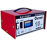 Caricabatterie moto/autoveicoli/imbarcazioni 10 Amp 6/12 Volt Oxford - CB-10