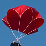 """Relationshipware StratoChute 24"""" Red Rip-Stop Nylon Parachute for Water or Model R"""
