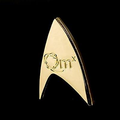QMx Star Trek 50th Anniversary Magnetic Badge: Toys & Games