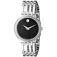 Movado Women's Swiss Quartz Stainless Steel Automatic Watch, Silver-Toned (Model: 0607051)