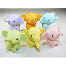 Iwako 6 new pastel colour Zoo Animal Elephant Japanese Erasers by Iwako