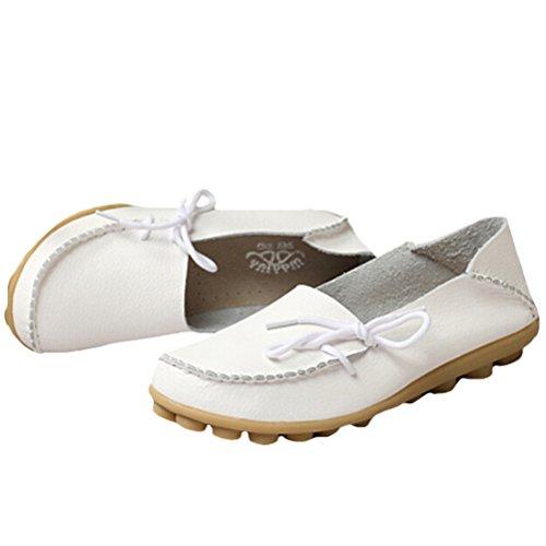 Vogstyle - Zapatillas de casa Mujer Estilo 1-Blanco