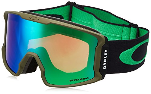 Oakley Line Miner Asian Fit Snow Goggles, Canteen Iron Frame, Prizm Jade Iridium Lens, - Canteens Oakley