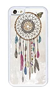 Apple Iphone 5C Case,WENJORS Cute Lakota Dream Catcher Soft Case Protective Shell Cell Phone Cover For Apple Iphone 5C - TPU White