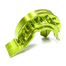 Integy RC Model Hop-ups T4116GREEN Evolution-6 Billet Machined Gear Cover (Single Motor) for Traxxas 1/10 E-Revo