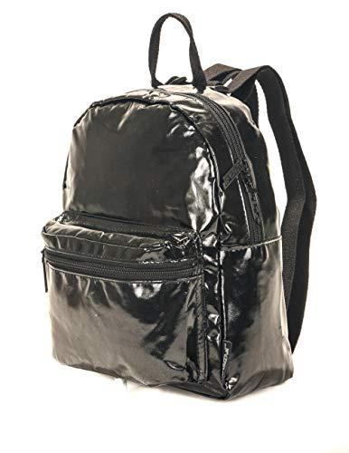 (FYDELITY - Mini Hipster Fashionista Backpack: METALLIC Black Foil |)