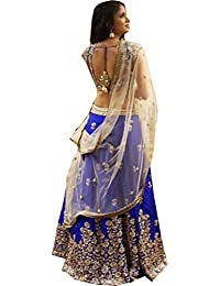 Snreks Collection Blue and Cream Color Heavy New Designer Indian wear Lehenga Choli