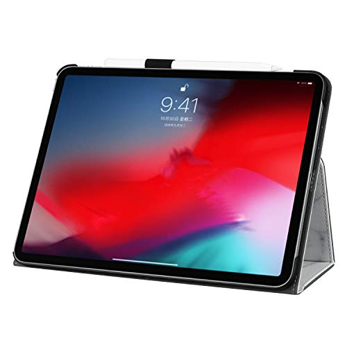 New iPad Pro 11 Inch 2018 Case with Pencil Holder, Gylint Lightweight Pu Leather Case Cover Stand with Auto Sleep/Wake, Protective for iPad Pro 11 2018 (French Pattern)