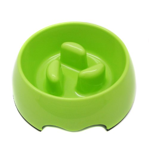 Alfie Pet by Petoga Couture – Vea Slow-Eating Anti-Gulping Pet Food Bowl (for Dogs and Cats) – Color: Light Green, Size: Large, My Pet Supplies