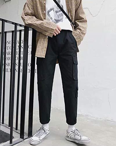 Hommes Pantalon Vrac Poches Multi Qitunc Loisir En Travail Cargo De Pantalons Avec Noir dOCwnxRfnq
