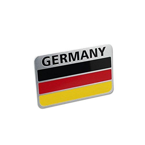Generic Car Racing Sports GE Germany Flag Oblong Emblem Badge Decal Sticker - German Sports Badge