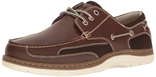 Dockers Men's Lakeport Oxford, Red/Brown, 10 M US (Brown Leather Red)