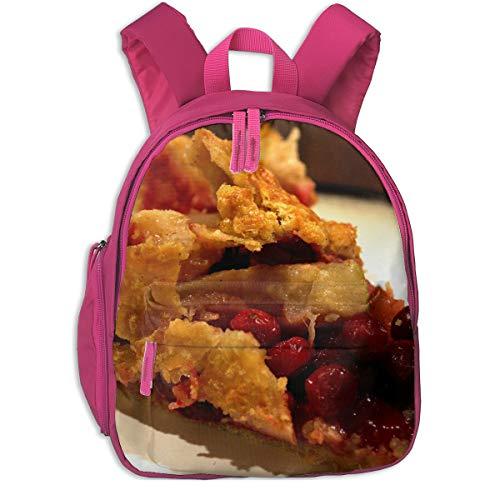 Happy Thanksgiving Cranberry Potato Pie Children School Bag Book Backpack Outdoor Travel Pocket Double Zipper ()