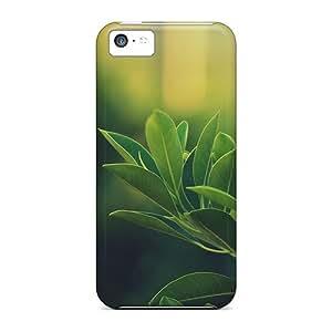 New Premium Flip Case Cover Leaves Skin Case For Iphone 5c