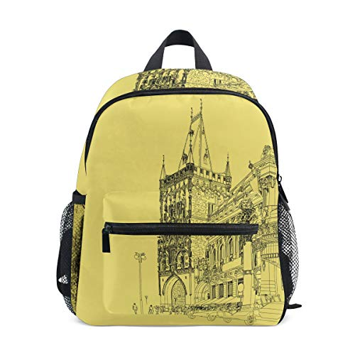 FAJRO Amazing City Sketching School Bag for Girls School Pack