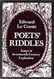 img - for Poets' Riddles: Essays in Seventeenth-Century Explication (National University Publications) book / textbook / text book