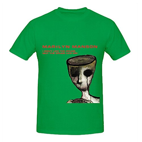Marilyn Manson I Dont Like The Drugs But Me Jazz Mens DTG Shirts Green