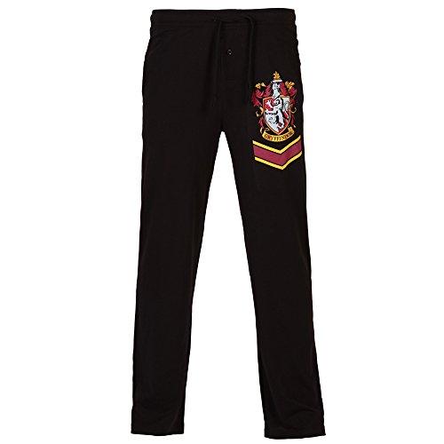 [Harry Potter Gryffindor Crest Adult Black Lounge Pants (Large)] (Hogwarts Robes Gryffindor)