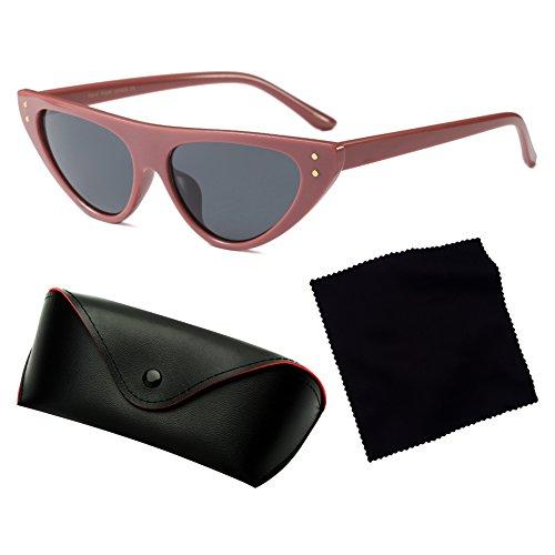 Retro Drop Sunglasses Frame Triangle hibote Eye Narrow C5 Mujeres Glasses Cat Small XqXwF