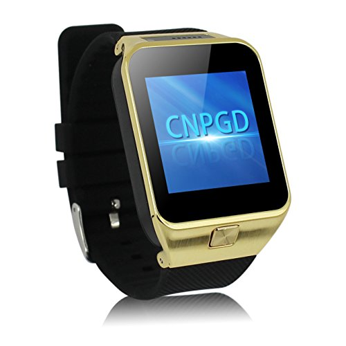 CNPGD All-in-1 Watch Cell Phone & Smart Watch Sync to Android IOS Smart Phone (Gold Plus)