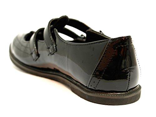 London patent mujer Envy tacón black negro Zapatos con PqTw1n0da