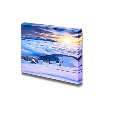 Canvas Prints Wall Art - Colorful Winter Morning in The Mountain Valley Pozharska, Carpathian, Ukraine, Europe - 32
