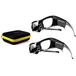 "2x PANASONIC compatible active 3D Glasses Hi-SHOCK ""Black Diamond"" | for all 2013-2018 SONY, SAMSUNG, SHARP, PANASONIC HDR / 4k TV 's"