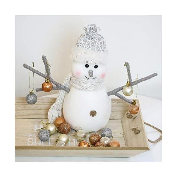 Valery Madelyn Palle di Natale 49 Pezzi 3 cm Addobbi Natalizi per Albero, Rame da Bosco e Oro Infrangibile Ornamenti Palla di Natale Decorazione per Albero di Natale Decor 5 spesavip