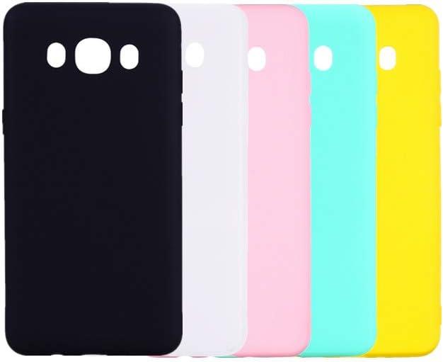 Acc Family Funda para Samsung Galaxy J7 2016 Estuche,Resistente Huellas Dactilares,Funda de Silicona con protección de Cuerpo Completo para Samsung Galaxy J7 2016,5 Colores Mezclados: Amazon.es: Electrónica