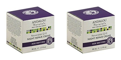 (2 PACK) – Andalou Reservatol Q10 Night Repair Cream | 50ml | 2 PACK – SUPER SAVER – SAVE MONEY For Sale