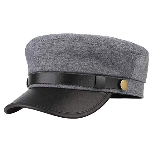 Classic Vintage Flat Cap Newsboy Cabbie Navy Hat Adjustable for Men Women Driver Chauffeur British Style
