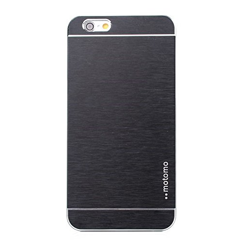 "Apple iPhone 6 4.7"" Motomo Metall Hard Case Aluminium Cover Brushed Schwarz"
