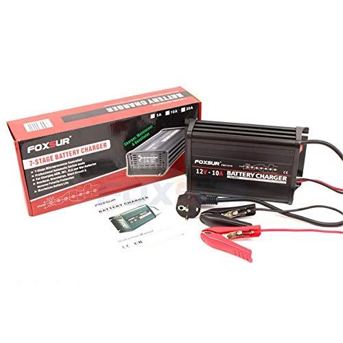 ZMM Cargador de batería de Coche Inteligente 12V 10A 7-Stage Cargador de batería de ácido de Plomo Inteligente Cargador de...